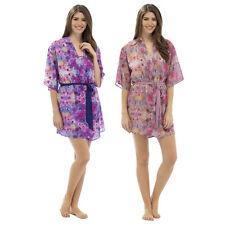 Ladies Lightweight Floral Printed Chiffon Kimono Sleeve Robe