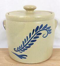 "New listing Vtg McCoy Bluefield #265 Large 7 3/4"" Cookie Jar Crock Pot with Lid Usa Rare!"