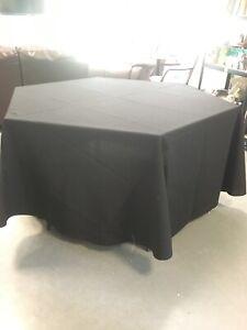 Circular Black Tablecloth 274cm /108''