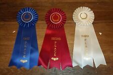 """Complete Set 1st-3rd Place Large Rosette Ribbons High Quality 12"""""""