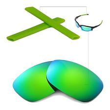 New Walleva Polarized Emeraldine Lenses And Rubber Kit For Oakley Split Jacket