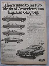 1977 Ford Original advert No.1