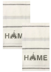 Disney Parks Mickey Castle Home Homestead Collection Kitchen Towels Set of 2 NEW