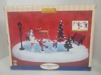 Lemax Animated Christmas Table Accent 2009 Skating Pond NEW IN BOX Ice Rink