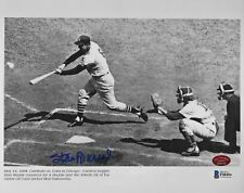 Stan Musial 3000th Hit signed Cardinals autograph 8x10 auto photo STM & BAS COA