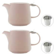 2x MAXWELL & WILLIAMS Tint Rose Teapot w/Lid & Removable Infuser 600ml Tea Pot