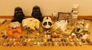 Huge Lot Vintage Star Wars Toy Vehicles, Cases, Play Sets & 72 Figures Kenner