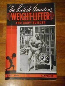 BRITISH AMATEUR WEIGHT-LIFTER AND BODYBUILDER magazine JOHN GRIMEK 7-49
