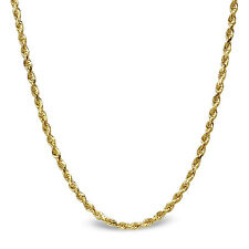 Diamond Cut Rope 14k Gold Necklace - 20 in. - SKU #63545