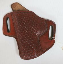 HANDCRAFTED LEATHER HOLSTER FITS SMITH & WESSON MP40 S&W LEFT HANDED BROWN NEW