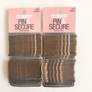 Conair Bobby Pins Secure Hold More Hair Brown 48 Count Lot Of 2 NEW