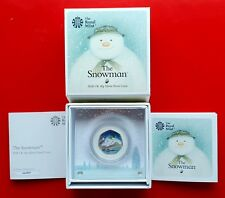 2018 Snowman 50p Silver Proof Christmas coloured coin RoyalMint limited edition