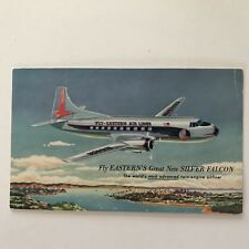 Eastern Airlines Great New Silver Falcon Postcard Vintage 1950s Twin Engine