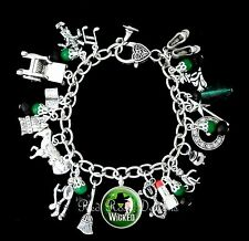 ~ WICKED MUSICAL THEMED CHARM BRACELET, WITCHES OF OZ, THE WIZARD OF OZ~