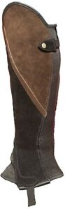 Black And Brown Suede Comfort Classic Gaiters / Half Chaps