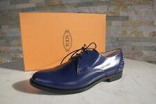 Tods Tod´s Gr 39 Schnürschuhe Halbschuhe Schuhe Shoes blau neu ehem. UVP 390 €
