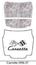 1956 1957 Chevrolet Corvette Under Hood Cover with G-097 Corvette