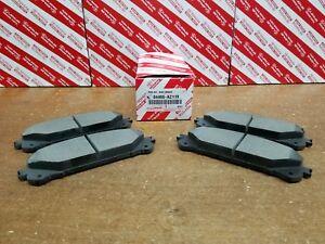Toyota Sienna 2011-16 Front & Rear Genuine OEM Ceramic Brake Pads w/o Shims