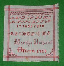 ABC Stickmustertuch Kreuzstich Monogramm Ostern 1915 Nähen Sticken Handarbeit