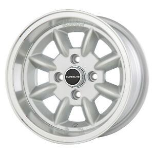 7x 13 Superlite Deep Dish Wheels 4 x 98 PCD Set of 4 Silver