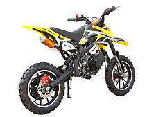 SYXMOTO Holeshot Mini Dirt Bike Gas Power2-Stroke 49ccMotorcycle Beginner Yellow