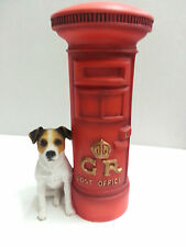 Jack Russell  with Postbox Dog Ornament Figurine Brand New Boxed