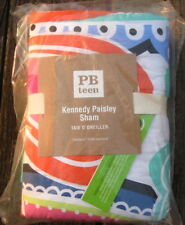 New Pottery Barn Kennedy Paisley Std Quilted Pillow Sham Orange Pink Navy Green