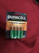 4 Duracell AA Rechargeable  Batteries 2500 MAH