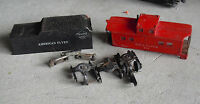 Vintage O Scale American Flyer Tin Tende Shell Caboose Shell Trucks Parts LOOK