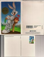 1997 BUGS BUNNY Sc UX281 postal card booklet of 10 CV $12.50
