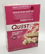 QUEST NUTRITION White Chocolate Raspberry Protein Bars - 12 Count - bb 7/27/20