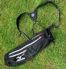 Mizuno Scratch Sac Weekend / Pencil Lightweight Golf Bag w/ Double Strap - Black