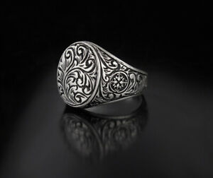 Handmade Pure 925 Sterling SILVER unisex Ring wedding jewellery w Box RRP £50