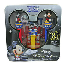 MICKEY MOUSE PEZ SET OF 3 IN LIMITED EDITION TIN CELEBRATING 80TH ANNIVERSARY
