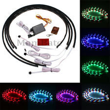 7 Color LED Strip Under Car Tube underglow Underbody System Neon Lights Kit