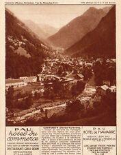 CAUTERETS PAU HOTEL DU COMMERCE DE NAVARRE AV LEON SAY PUBLICITE 1931 AD