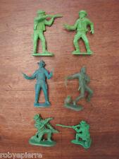 6 soldatini soldatino toy soldier vintage 7 cm in plastica cowboys western toys