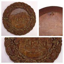 """Molto bello piatto di parete di legno """"Salisburgo""""- Motivo Pezzo da collezione"""