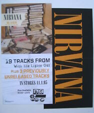 "Nirvana ""Silver"" U.S. Promo 2-Sided Poster / Banner"