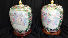 Exquisite handpainted ginger jars