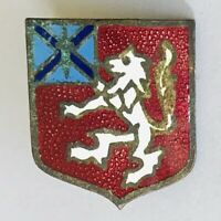 White Lion Red Shield Authentic Old Souvenir Pin Badge Rare Vintage (N20)