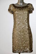 Rena Lange Abendkleid Pailletten - Mattgold - Gr. 34 - ungetragen !!