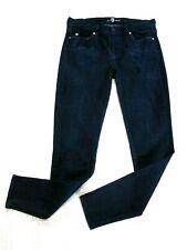 7 For All Mankind Women's The Skinny Jeans Dark Wash Stretch Denim Size 30