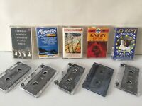 Bundle Pack Of 5 Orchestral & Instrumental Music Cassette Tapes - Pavarotti, etc