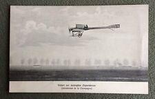 CPA. VIDART sur monoplan DEPERDUSSIN. Aérodrome de Champagne.