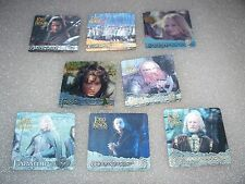 LORD of the RINGS The Two Towers Lenticular Set P1-6 & ci1+2  LOTR   2002 Artbox