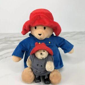 "Vintage Paddington Bear Plush Plus Buddy Bundle Of 2 Eden Plush 10"""