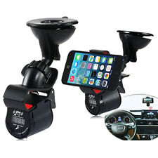 LCD Car FM Transmitter Dash Cradle Holder Mount For Smart Phones GPS iPod Mp4/5