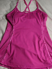 Hot Neon  Pink Long Sports Bra Top  Size Small New  Unknown Brand