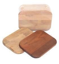Frühstücksbretter aus dunkler Robinie, Untersetzer, Set mit 6 Stück, Massivholz